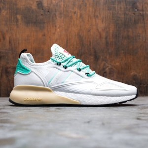 Adidas Men ZX 2K Boost (white / crystal white / grey one / hi-res green)