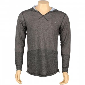 ARSNL Sabastien Light Weight Hooded Long Sleeve Tee(charcoal speckle)