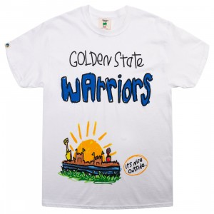 After School Special x NBA Men Warriors Doodle Tee (white)