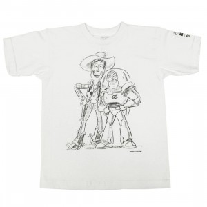 BAIT x Toy Story Men Buzz And Woody Best Friend Sketch Tee (white)