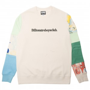 Billionaire Boys Club Men Juneau Crew Sweater (tan / cream)