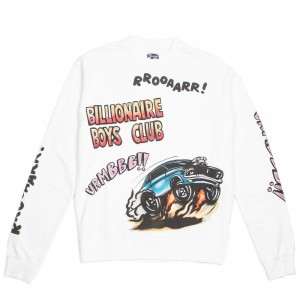 Billionaire Boys Club Men BB Roarr Crew Sweater (white / snow white)