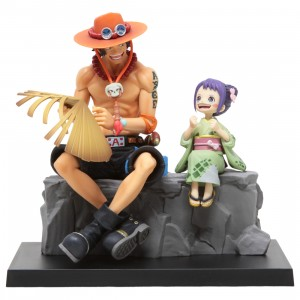 Bandai Ichibansho One Piece Emorial Vignette Ace And Otama Figure (tan)