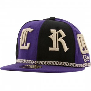Crooks and Castles Coll English New Era Fitted Cap (purple / black)