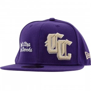 Crooks and Castles Harley New Era Fitted Cap (purple)