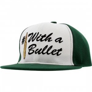 Crooks and Castles Number 1 With A Bullet Snapback Cap (hunter green)