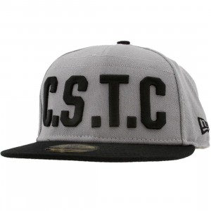 Crooks and Castles CSTC Cant Stop The Crooks New Era Fitted Cap (grey)