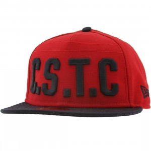 Crooks and Castles CSTC Cant Stop The Crooks New Era Fitted Cap (red)