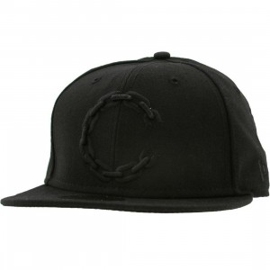 Crooks and Castles C Link Logo New Era Fitted Cap (black)