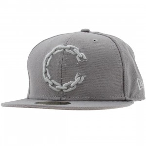 Crooks and Castles C Link Logo New Era Fitted Cap (grey)