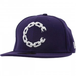 Crooks and Castles C Link Logo New Era Fitted Cap (purple)