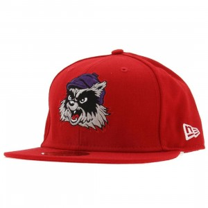 Crooks and Castles Racoon New Era Fitted Cap (red)