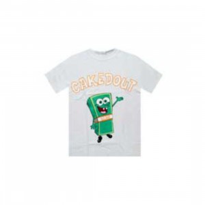 Caked Out Stakin Bob Tee (white)