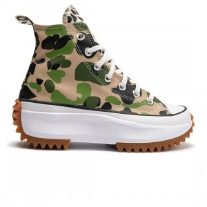 Converse Men Archive Print Run Star Hike Hi (camo / candied ginger / piquant green)