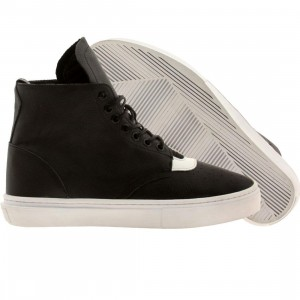 Clear Weather Men The One-Thirty Mid Top (black / white leather)