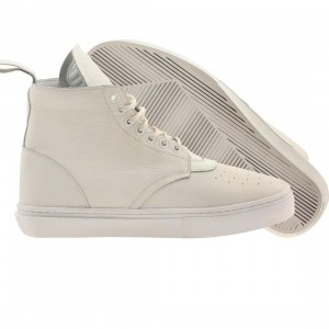 Clear Weather Men The One-Thirty Mid Top (white / leather)
