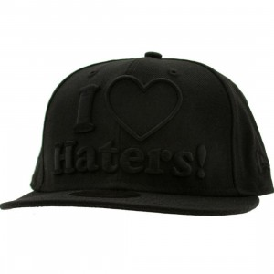 DGK Haters New Era Fitted Cap (black out)