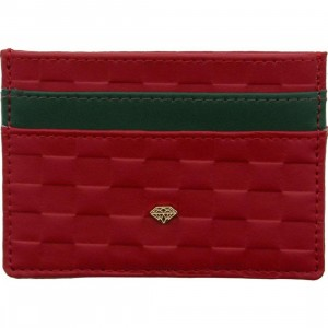 Diamond Supply Co Checker Card Holder Wallet (red)