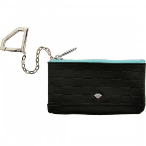 Diamond Supply Co Crock And Leather Chain Wallet (black / diamond blue)