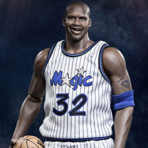 NBA x Enterbay Shaquille O'Neal 1/6 Scale 12 Inch Figure - Duo Pack (white)