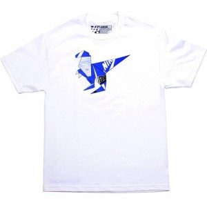The Forest Lab T-Rex Tee - Blue SB Box (white)