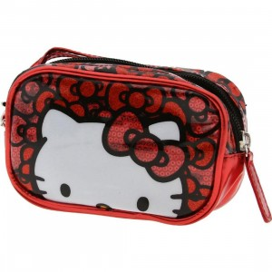 Hello Kitty Bow Sequins Camera Case (red)