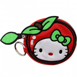 Hello Kitty Apple Face Coin Bag (red / green / white)