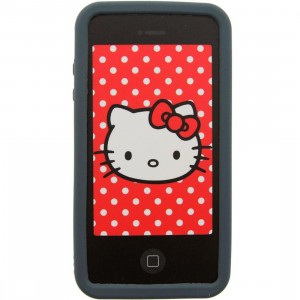 Hello Kitty Angry iPhone 4 Case (black)