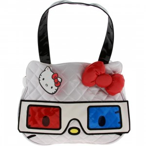 Hello Kitty 3D Face Bag (white / red / blue)