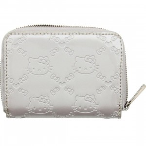 Hello Kitty Small Embossed Wallet (ivory)