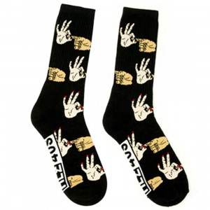 HLZBLZ x 40s And Shorties Hit It Socks (black / all over) 1S