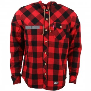 Mishka Men Utility Hooded Button Up Jacket (red)