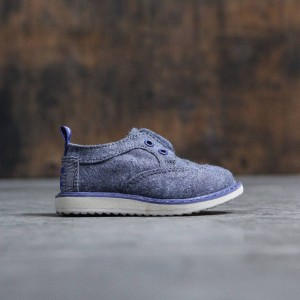 TOMS Toddlers Brogues (blue / chambray)
