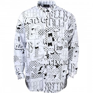 Lazy Oaf Men What Is It Shirt (white)