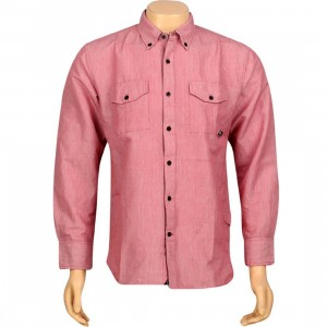 JSLV Late Night Woven Long Sleeve Shirt (red)