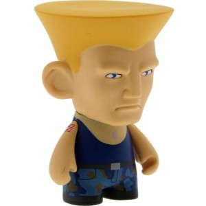 Kidrobot Street Fighter 3 Inch Mini Series Guile Figure - 1/20 Ratio (blue)