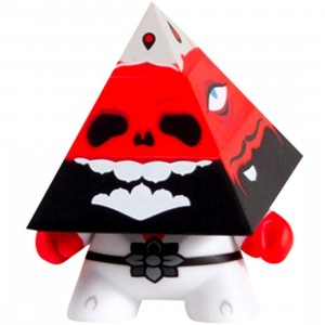 Kidrobot Pyramidun Dunny 3 Inch Figure - Andrew Bell (red)