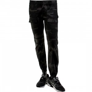 Kennedy Denim Co The Rugger Cargo Jogger Pants (black / camo / umbra)