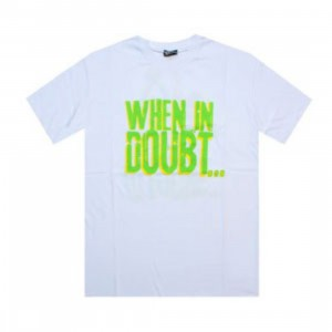 K1X When In Doubt Tee (white / green / yellow)