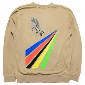 La Carrera Cycling Club Men All Rounder 64 Pigment Dyed Crewneck Sweater (brown / sand)