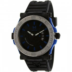 Meister Prodigy Watch (black / silver / blue / rubber band)