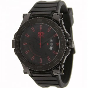 Meister Prodigy Stainless Steel With Rubber Band Watch (black)