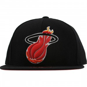 Mitchell And Ness Miami Heat NBA XI Vintage Logo Fitted Cap (black)