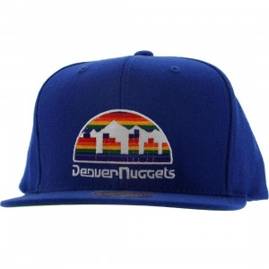 Mitchell And Ness Denver Nuggets NBA Wool Solid Snapback Cap (blue)
