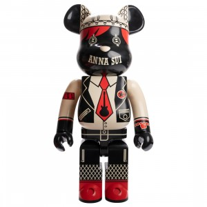 Medicom Anna Sui Red And Beige 1000% Bearbrick Figure (beige)