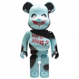 Medicom The Dark Knight The Joker Why So Serious Ver. 1000% Bearbrick Figure (blue)