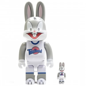 Medicom Space Jam Bugs Bunny 100% 400% Rabbrick Figure Set (gray)