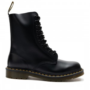 Dr. Martens Men 1490 Smooth Leather Mid Calf Boots (black / black smooth)
