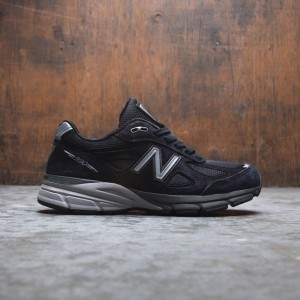 New Balance Women 990v4 W990BK4 - Made In USA (black / silver)