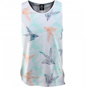 Publish Rory 140G Jersey Floral Tank Top (white)